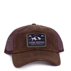 Fish Hippie Men's Wax Trucker Cap