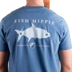 Fish Hippie Men's Seersucker & Saltwater Short Sleeve Tee