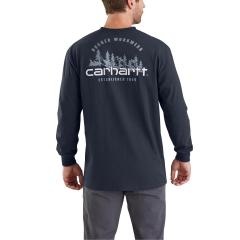 Carhartt Men's Workwear Rugged Outdoors Mtn Graphic Pocket LS T-Shirt