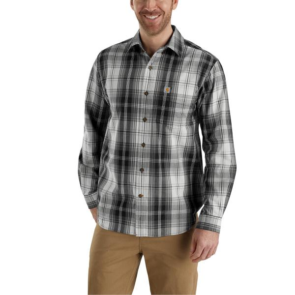 Carhartt Men's Essential Plaid Button Down Long Sleeve Shirt - Discontinued Pricing