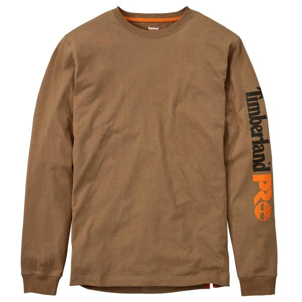 Timberland Men's Base Plate Blended Long Sleeve T-Shirt with Logo