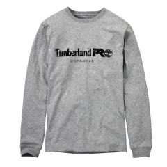 Timberland Men's Cotton Core Long Sleeve T-Shirt with Logo