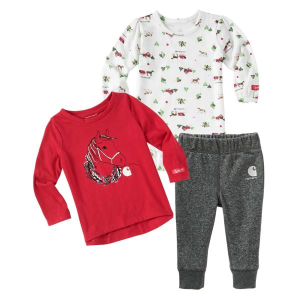 Carhartt Infant Girls' Holiday 3 Piece Gift Set