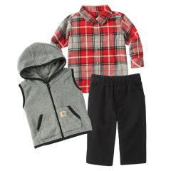Infant Boys' Flannel Vest 3 Piece Gift Set