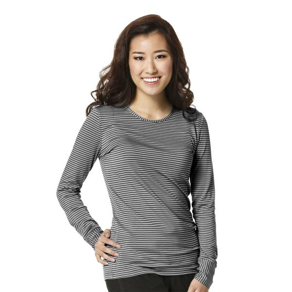 Wink Scrubs Women's Long Sleeve Striped Tee