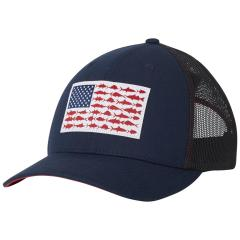 PFG Mesh Snap Back Fish Flag Ball Cap