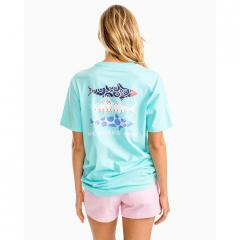 Southern Tide Women's Printed Fish Graphic Tee