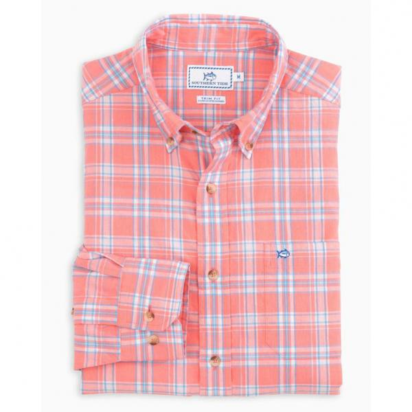 Southern Tide Men's Shell Point Plaid Sport Shirt