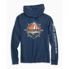 Southern Tide Men's Southern Sailboat Hoodie Tee