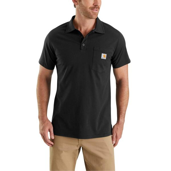 Carhartt Men's Force Cotton Delmont Pocket Polo
