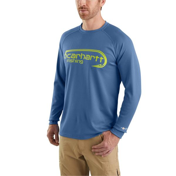 Carhartt Men's Force Fishing Graphic Long Sleeve T-Shirt