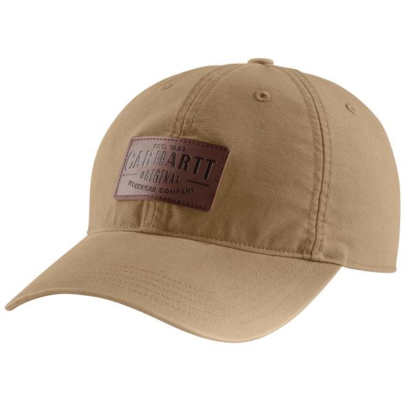 Carhartt Men's Rigby Stretch Fit Leatherette Patch Cap