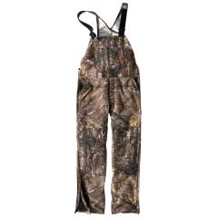 Men's Quilt-Lined Camo Bib Overalls - Discontinued Pricing