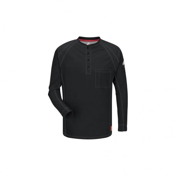 Bulwark Men's iQ Series Comfort Knit Long Sleeve Henley