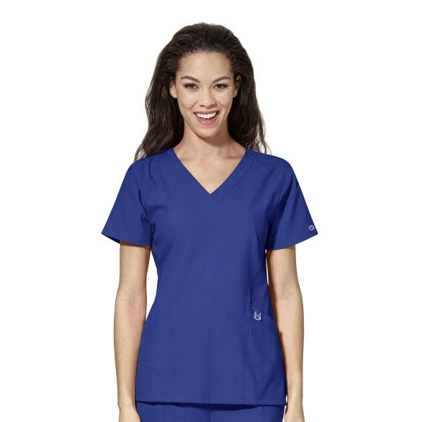 Wink Scrubs Women's Stylized V-neck Top - Extended Sizes