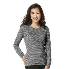 Wink Scrubs Women's Long Sleeve Striped Tee Extended Sizes
