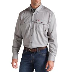 Men's FR Solid Work Shirt - Silver Fox