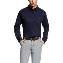 Men's FR Solid Work Shirt - Navy
