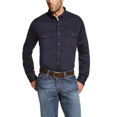 Men's FR Solid Vent Shirt - Navy