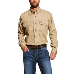Ariat Men's FR Solid Vent Shirt - Khaki