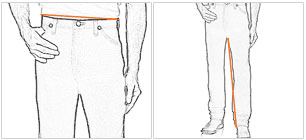 Wrangler Pants Measurement Guide
