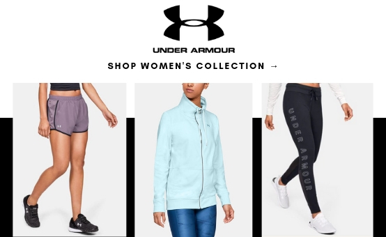 Under Armour | click to shop womens best sellers