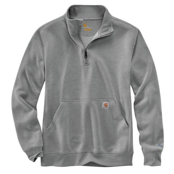 Carhartt Mens Force Relaxed Fit Midweight Quarter-zip Mock-neck Sweatshirt