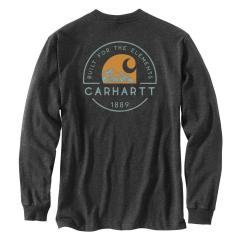 Carhartt Men's Relaxed Fit Heavyweight LS Pocket Built for the Elements Graphic T-Shirt TK438