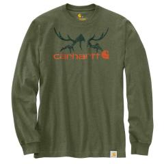 Men's Original Fit Heavyweight LS Hunt Graphic T-Shirt TK436