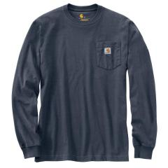 Men's Relaxed Fit Heavyweight LS Pocket Logo Graphic T-Shirt TK434