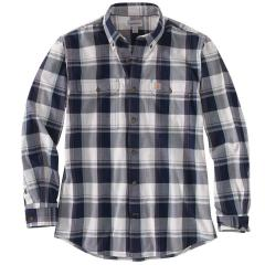 Men's Original Fit Chambray Long-Sleeve Plaid Shirt TW447