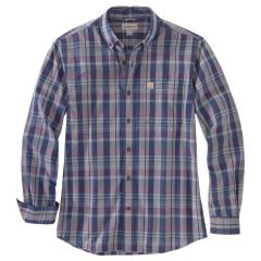 Carhartt Men's Relaxed Fit Cotton Long-Sleeve Plaid Shirt TW444