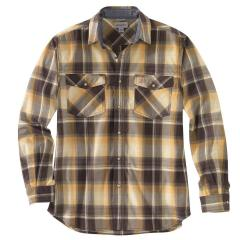 Men's Rugged Flex Relaxed Fit Lightweight Long-Sleeve Snap-Front Plaid Shirt TW443