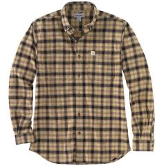 Men's Rugged Flex Relaxed Fit Flannel Long-Sleeve Plaid Shirt TW448