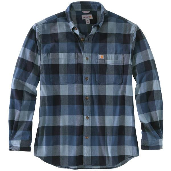 Carhartt Men's Rugged Flex Relaxed Fit Flannel Long-Sleeve Plaid Shirt TW448