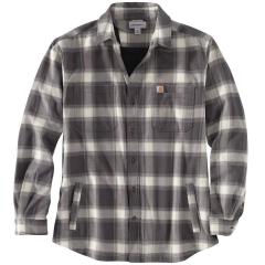 Men's Rugged Flex Relaxed Fit Flannel Fleece-Lined Plaid Shirt TW450