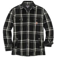 Men's Relaxed Fit Flannel Sherpa-Lined Snap-Front Plaid Shirt Jac TJ452