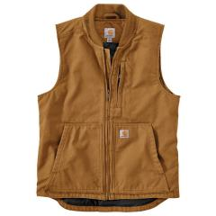 Men's Washed Duck Insulated Rib Collar Vest OV395