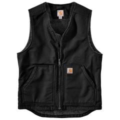 Men's Washed Duck Sherpa-Lined Vest