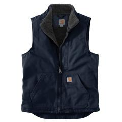 Men's Sherpa-Lined Mock Neck Vest