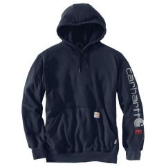 Men's Flame Resistant Force Original Fit Midweight Hooded Signature Sleeve Logo Sweatshirt