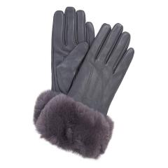 Women's Fur Trimmed Leather Gloves
