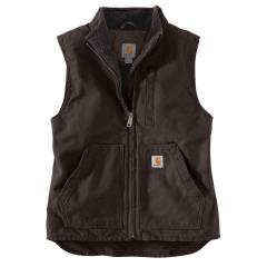 Women's Washed Duck Sherpa Lined Vest
