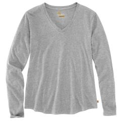 Women's Relaxed Fit Midweight LS V-Neck T-Shirt TK407