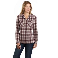 Carhartt Women's Relaxed Fit Flannel Hooded Plaid Shirt TW517