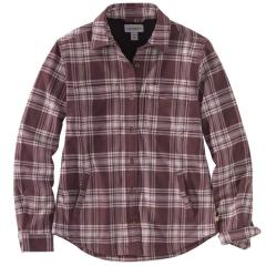 Women's Rugged Flex Relaxed Fit Flannel Fleece-Lined Plaid Shirt TW450