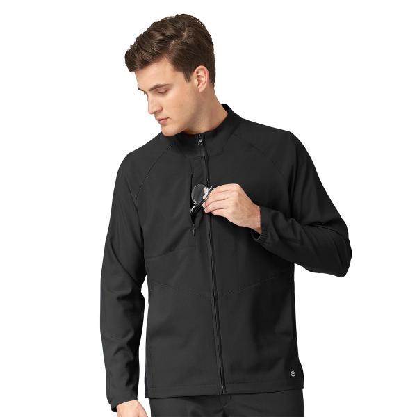 Wink Scrubs Men's Zip Front Warm Up Jacket Extended Sizes
