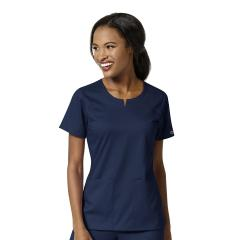 Women's 4 Pocket Notch Neck Top