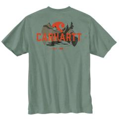 Men's Relaxed Fit Heavyweight SS Pocket Outdoor Graphic T-Shirt