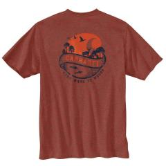 Men's Loose Fit Heavyweight SS Pocket Woods Graphic T-Shirt